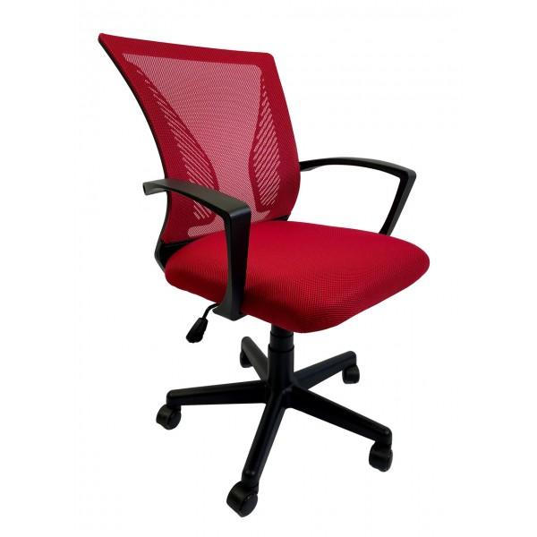 Крісло офісне Star C487 сітка, червоне